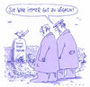 Cartoon: erna vogel (small) by Andreas Prüstel tagged tod,friedhof,hinterbliebene,vögel,vögeln,grabstein,tierliebe