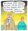 Cartoon: genie (small) by Andreas Prüstel tagged fussball,bundesliga,tv,reporter,traumtor,selbsttor