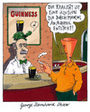 Cartoon: george bernard shaw (small) by Andreas Prüstel tagged shaw,zitat,alkoholismus,guinness,irland,pub,realität