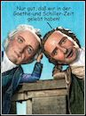 Cartoon: goethe und schiller (small) by Andreas Prüstel tagged goethe,schiller,cartoon,collage,andreas,pruestel