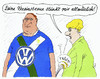 Cartoon: in wolfsburg (small) by Andreas Prüstel tagged vw,abgaswerte,betrug,usa,vfl,wolfsburg,fan,fußballverein,bundesliga,cartoon,karikatur