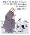 Cartoon: klapperstorch (small) by Andreas Prüstel tagged storch,geburt,tod,baby