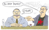 Cartoon: klaro (small) by Andreas Prüstel tagged scientology,kneipe
