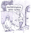 Cartoon: mit hund (small) by Andreas Prüstel tagged puff,prostituierte,freier,haustier,hund,extrakosten,extras,cartoon,karikatur,andreas,pruestel