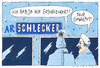 Cartoon: schlecker (small) by Andreas Prüstel tagged pleite insolvenz schlecker discounter bundespräsident wulff wulffen
