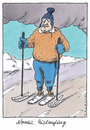 Cartoon: trendsport (small) by Andreas Prüstel tagged nordicwalking,wintersport,trendsport,freizeitsport,schlittschuhe