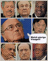 Cartoon: visagen (small) by Andreas Prüstel tagged fifa,blatter,korruption,visagen,gier,cartoon,collage,andreas,pruestel