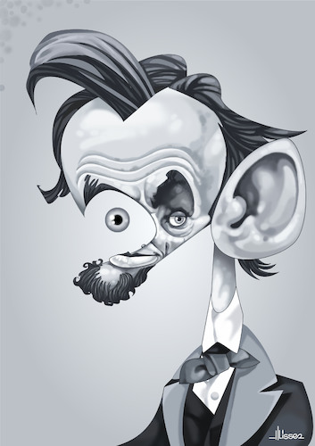 Cartoon: Abraham Lincoln (medium) by Ulisses-araujo tagged abraham,lincoln