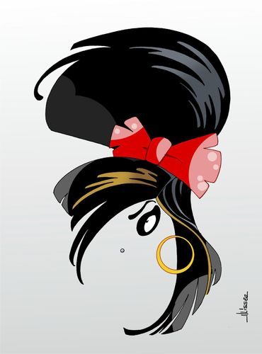 Cartoon: Amy Winehouse (medium) by Ulisses-araujo tagged amy,winehouse,caricature