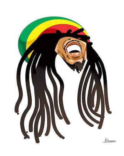 Bob Marley By Ulisses Araujo Famous People Cartoon Toonpool