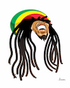 Cartoon: Bob Marley (small) by Ulisses-araujo tagged bob,marley