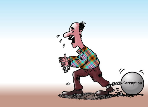 Cartoon: corruption in the middle east (medium) by handren khoshnaw tagged corruption,kurdistan,kurd,khoshnaw,handren