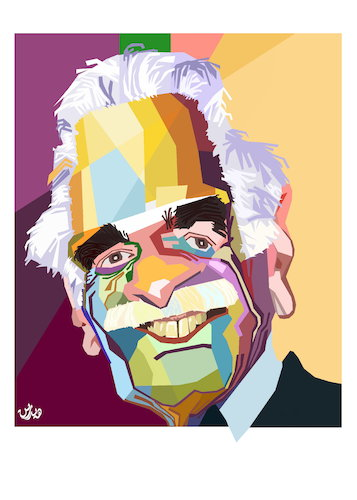 Cartoon: omer elsharif - omar sharif (medium) by handren khoshnaw tagged omer,elsharif,omar,al,sharif