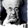 Cartoon: Eugene Ionesco (small) by handren khoshnaw tagged handren,khoshnaw,eugen,ionescu,romania