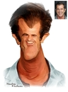 Cartoon: Mel Gibson (small) by handren khoshnaw tagged handren khoshnaw
