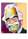Cartoon: omer elsharif - omar sharif (small) by handren khoshnaw tagged omer elsharif omar al sharif