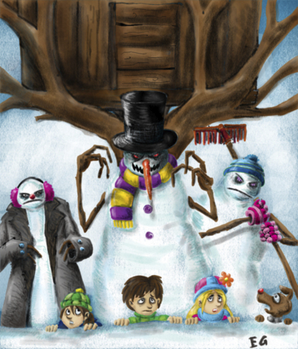 Cartoon: mosntruos de nieve! (medium) by ernesto guerrero tagged monsters,snow
