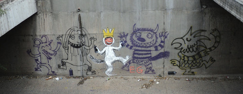 Cartoon: Where the wild things are! mural (medium) by ernesto guerrero tagged monsters