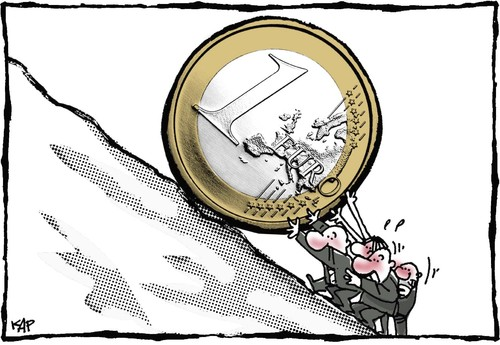 Euro By Kap Business Cartoon Toonpool