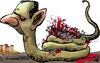 Cartoon: Al Assad (small) by kap tagged al,assad,syria,revolution,mideast,people,violence,freedom