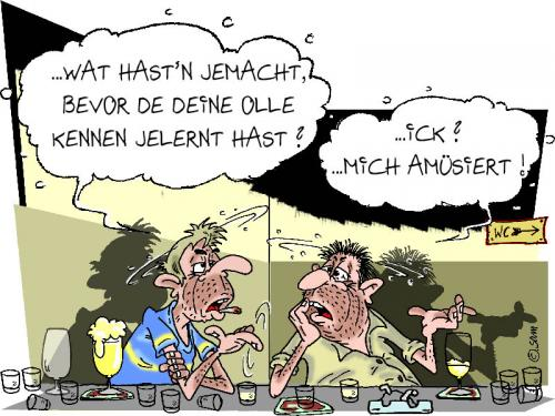 Cartoon: amüsant (medium) by sam tagged beziehung,bunt,caracter,cartoon,frau,mann,home,kinder,man,woman
