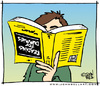 Cartoon: Reading for Dummies (small) by JohnBellArt tagged reading,dummies,read,book,illiterate,humor