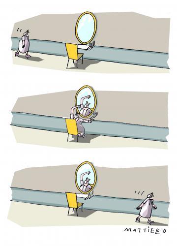 Boudoir by mattiello philosophy cartoon toonpool for Spiegel cartoon
