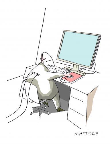 verkabelt by mattiello media culture cartoon toonpool. Black Bedroom Furniture Sets. Home Design Ideas