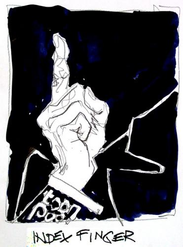 Cartoon: Forefinger (medium) by Marga Ryne tagged finger