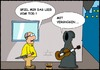 Cartoon: Straßenmusiker (small) by sinnfrei-cartoons tagged gitarre,tod,rentner,lied