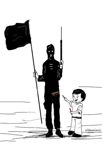 Cartoon: Hope (medium) by Mohamad Altamimi tagged syria,kid,freedom,isis,war