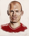 Cartoon: Arjen Robben (small) by Danny Kohn tagged bayern,münchen