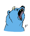 Cartoon: Bearsmurf (small) by vanolmen tagged smurf bear cry blue