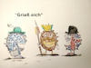 Cartoon: bayern news (small) by ab tagged corona,virus,deutschland,england,afrika,mutation,bayern,garmisch,klinik