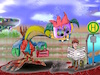 Cartoon: busstop (small) by ab tagged bus,stop,haltestelle,morgen,arbeit,mensch,andere