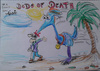 Cartoon: dodo of death (small) by ab tagged dodo,riesenvogel,strand,blut