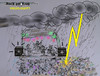 Cartoon: Highlight (small) by ab tagged rock,am,ring,musikfestival,unwetter,gewitter