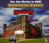 Cartoon: new cinema (small) by ab tagged cinema,movie,film,titel,rambo,dowton,abbey
