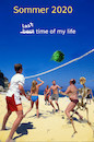 Cartoon: unvergesslich (small) by ab tagged virus,corona,strand,beach,ball,play,spiel,spass,sommer,sonne,aus,ende