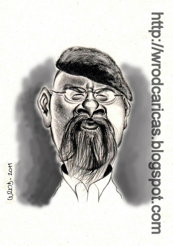 Cartoon: Jamie Hyneman (medium) by WROD tagged jamie,hyneman,mythbusters