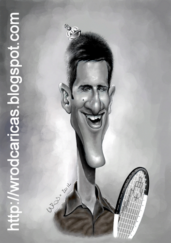 Novak Djokovic By Wrod Famous People Cartoon Toonpool