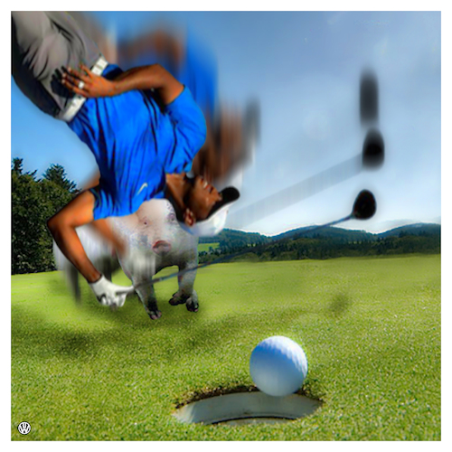 Cartoon: Taiga Wutz (medium) by Night Owl tagged golf,tiger,woods,wutz,schwein,comeback