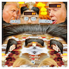 Cartoon: Hairy Pinballs (small) by Night Owl tagged atomkonflikt,atombombe,atomwaffen,sprengkopf,raketen,nuklearwaffen,wettrüsten,donald,trump,usa,kim,jong,un,nordkorea,flipper,flipperautomat,pinball,machine,haare,haarig