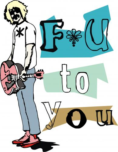 Cartoon: f u to you (medium) by andres fv tagged the,rock,star