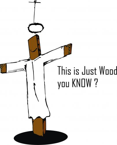 Cartoon: Jesus ???? (medium) by andres fv tagged just,wood