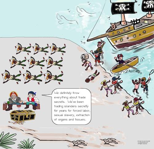 Intellectual Property Cartoon: Trade Secrets Pundit By Paparazziarts