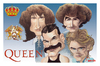 Cartoon: Humor con Queen (small) by Romero tagged musica,humor,queen,caricatura,carton,personajes,musicos,arte,dibujo,color,campeones,fredie,mercury