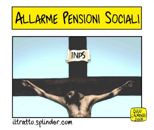 Cartoon: INPS (medium) by Giulio Laurenzi tagged politics
