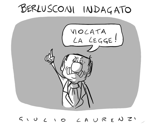 Cartoon: La Legge Sono Io (medium) by Giulio Laurenzi tagged legge