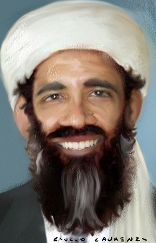 bin laden cartoon. Cartoon: Obama Bin Laden